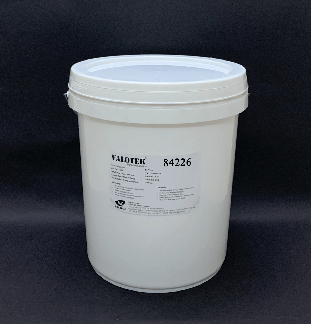 WATER-BASED GLUE FOR LABEL SEALING VALOTEK 84226