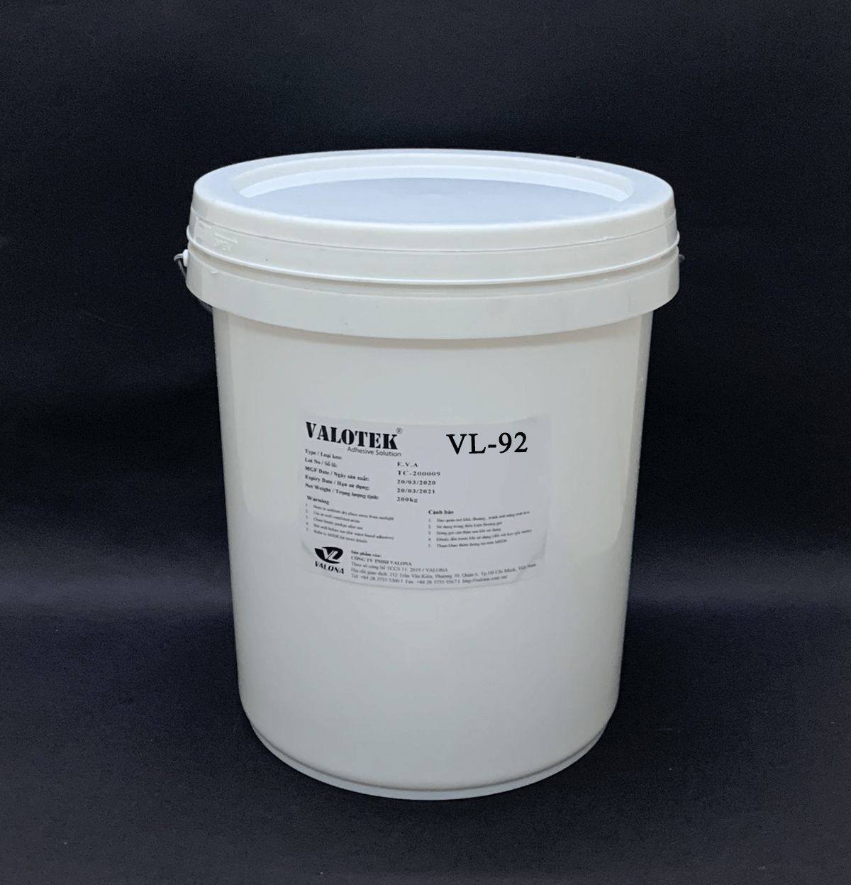 WATER-BASED GLUE FOR LAMINATING OPP ON PAPER VALOTEK VL-92