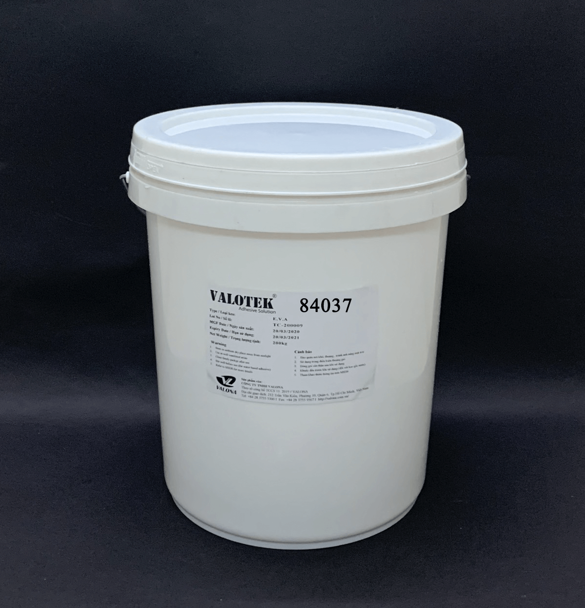 WATER-BASED GLUE FOR PAPER BOX VALOTEK 84037