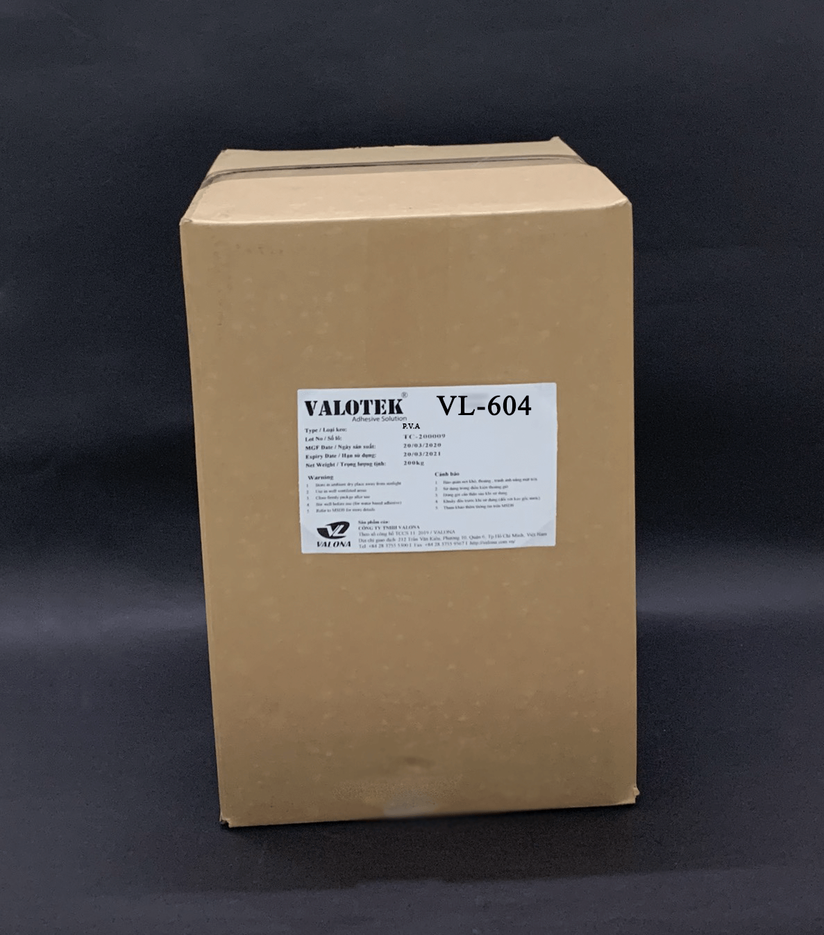 WATER-BASED GLUE FOR CARTON PAPER VALOTEK VL-604