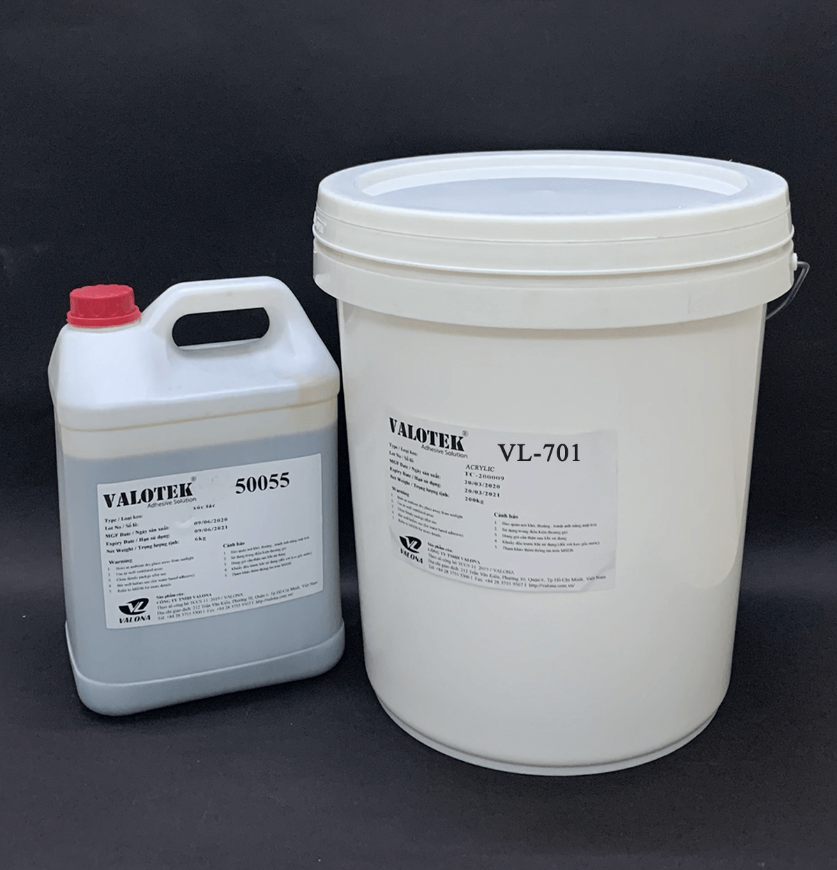 WATER-BASED GLUE 2 COMPONENTS FOR NATURAL WOOD VALOTEK VL-701
